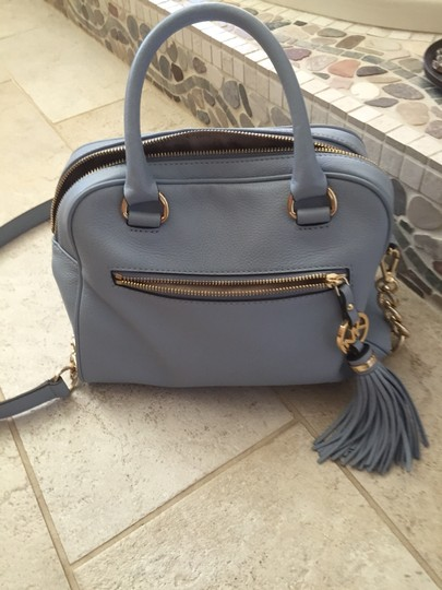 Michael Kors Gold Hardware Nice Tassel With Mk Emblem Removeable Strap Have Price Tag And Info Card Satchel in pale blue
