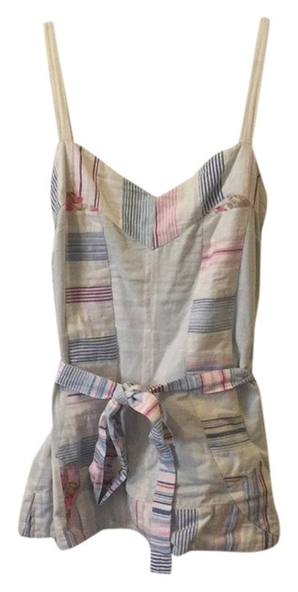 Anthropologie Top Blue, white, pink