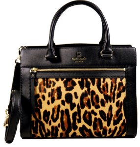 Kate Spade Satchel in Black and Leopard