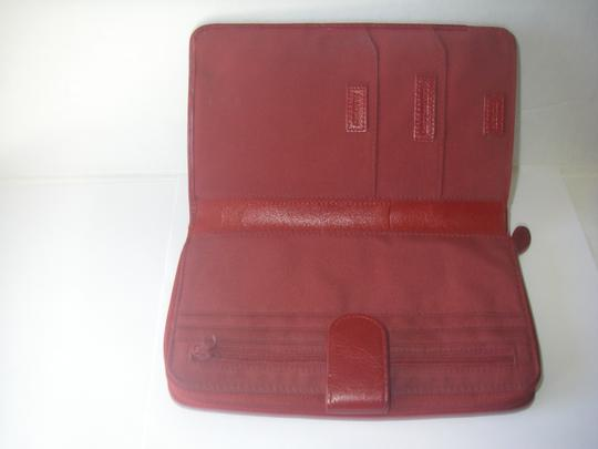 Wilsons Leather Wilson's Leather Red Zip-around Wallet w/Snap Close
