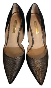 Louise et Cie Black and gold Pumps