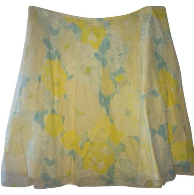 Free People Skirt Yellow And Blue