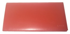 Lodis Lodis Red Leather Checkbook Holder Wallet