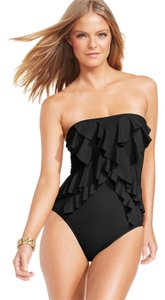 Michael Kors Ruffle-Front Bandeau One-Piece Swimsuit