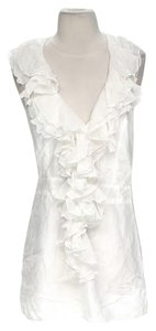 Young Fabulous & Broke short dress White Silk Ruffle on Tradesy