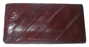 Other Red Eel Skin Long Wallet Eelskin Leather