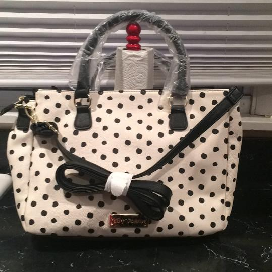 Betsey Johnson Tote in Black And White