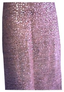 David Meister Trendy Burnt Orange Sequin Pencil 4 Skirt