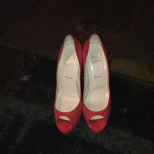Christian Louboutin Red/Orange Platforms