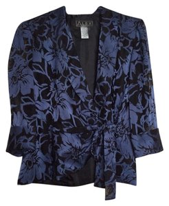 Alex Evenings Top Blue and black