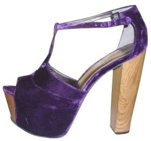 Jessica Simpson Blue with wooden heel Pumps