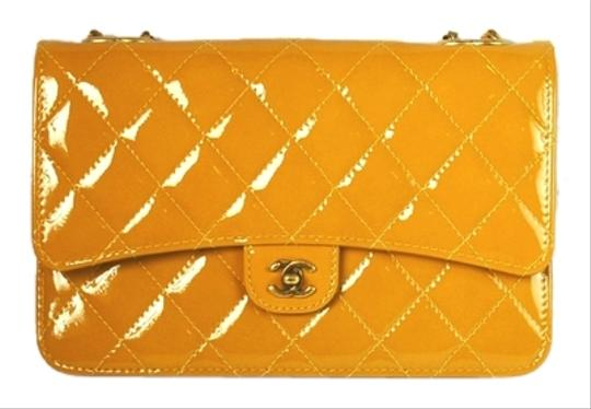 Chanel Patent Leather Quilted Wallet On Chain Classic Flap Classic Cross Body Bag