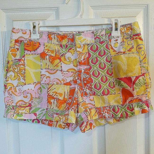 Item - Yellow / Orange / Lime / Pink Walsh / Happiest Hours Patch Shorts Size 10 (M, 31)