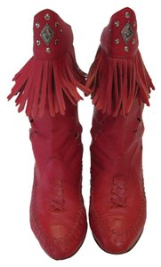 Wild Pair Leather Very Good Condition Red Boots
