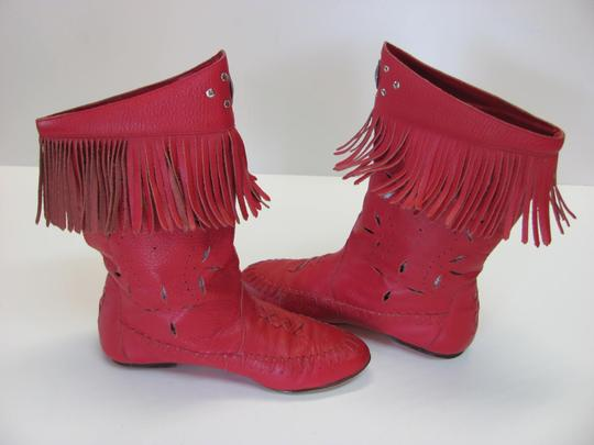 Wild Pair Leather Very Good Condition Size 5.50 M Red Boots