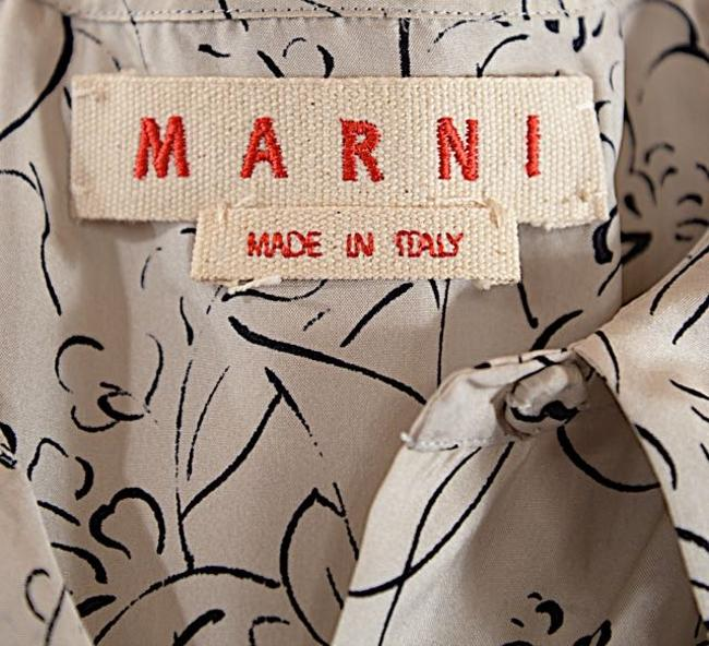 Marni short dress White with black Cotton on Tradesy