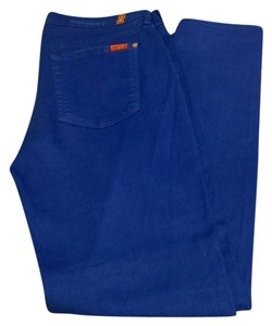 7 For All Mankind Skinny Pants Cobalt Blue