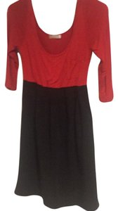 Glam short dress Red and black on Tradesy