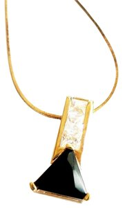 Lauren G Adams Lauren G. Adams Black and White Cubic Zirconia 925 Sterling Silver 14k Gold Necklace