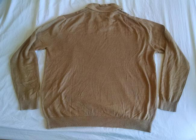 Paul Fredrick Silk Cashmere Tan Khaki Beige Sweater