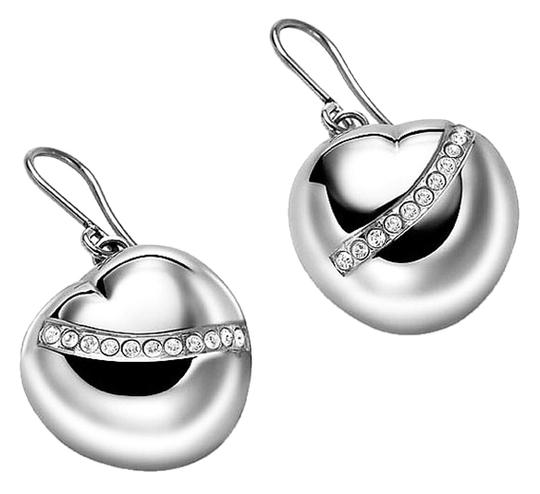 Preload https://item1.tradesy.com/images/breil-silver-tone-heart-shaped-crystal-drop-earrings-6051400-0-0.jpg?width=440&height=440