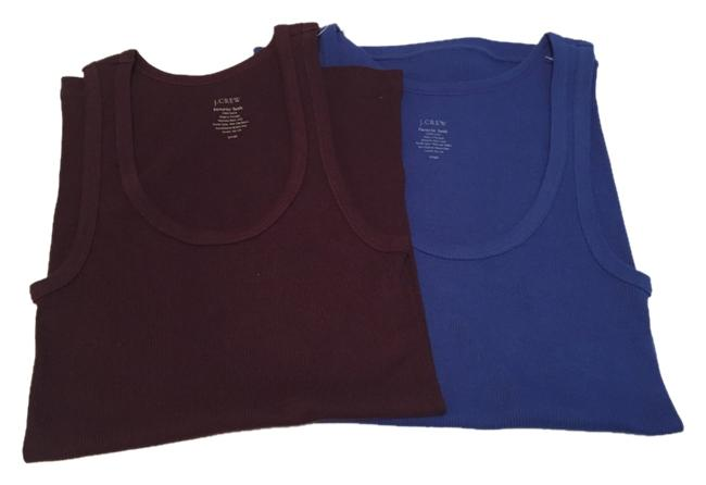 Preload https://item1.tradesy.com/images/jcrew-blue-two-cobalt-and-aubergine-favorite-tank-topcami-size-6-s-6051475-0-3.jpg?width=400&height=650
