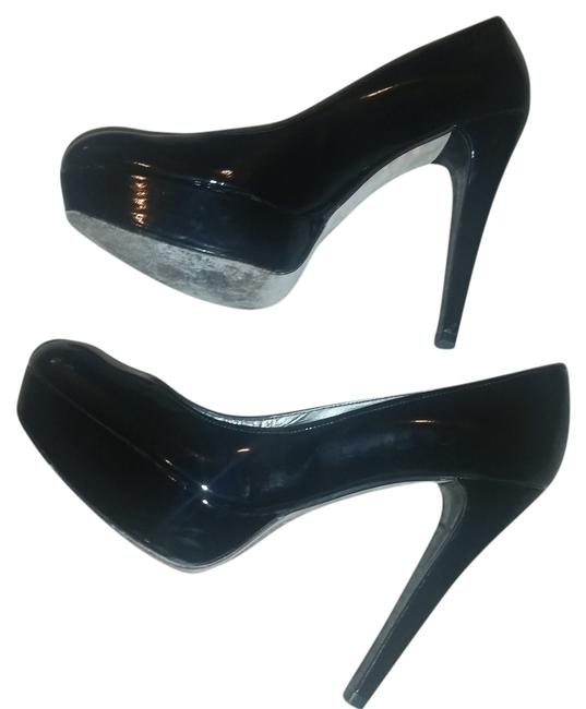 Stuart Weitzman Black Patent Leather Platform Pumps Size US 8 Regular (M, B) Stuart Weitzman Black Patent Leather Platform Pumps Size US 8 Regular (M, B) Image 1