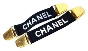 Chanel 5pc Chanel Letter Logo Arm Band, Garter Rare Vintage