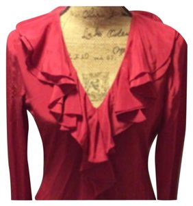 Moda International Top Cranberry Red