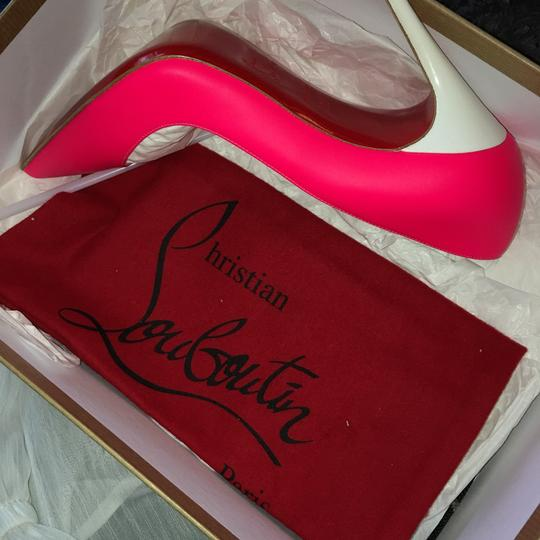 Christian Louboutin Hot pink white Pumps