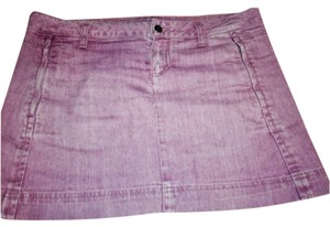 Lacoste Mini Skirt Faded Denim Purple