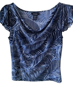 Express Top Blue and white