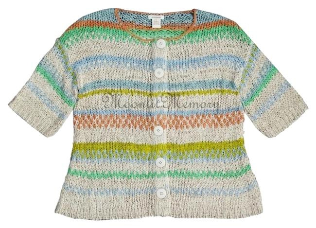 Sundance New Without Sweater Striped Drop-shoulders Cardigan