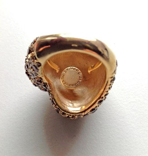 Marc by Marc Jacobs NEW Marc by Marc Jacobs Gold Peach Heart Pave Czech Crystal Ring - Multi Sized