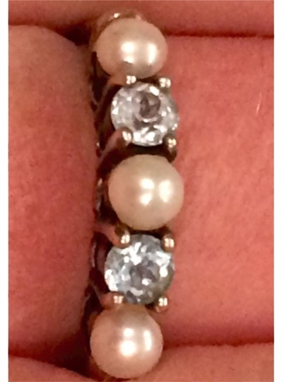 Other Pearl And Blue Topaz Band