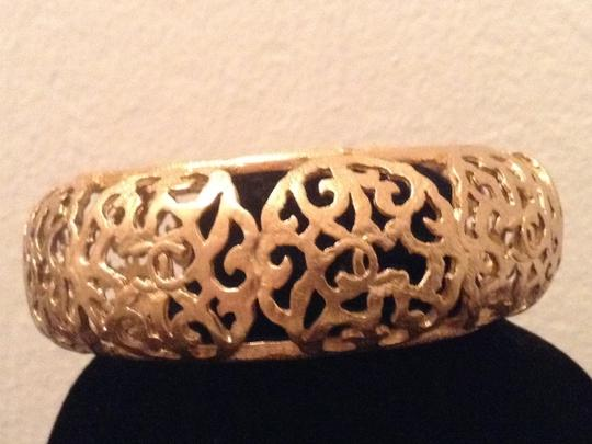 Chanel CHANEL RARE SEASON 23 1980's GOLD PLATED FILLIGREE CC BANGLE BRACELET
