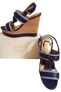 Coach Navy/Light Blue Wedges