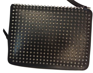 Christian Louboutin Black leather iPad case