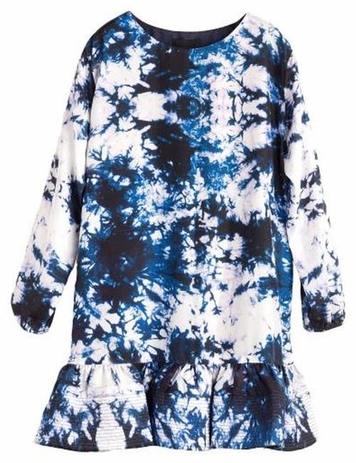 Preload https://item3.tradesy.com/images/cynthia-rowley-blue-exaggerated-ruffle-space-dye-above-knee-night-out-dress-size-2-xs-6054982-0-0.jpg?width=400&height=650