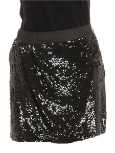 Haute Hippie Mini Skirt Black