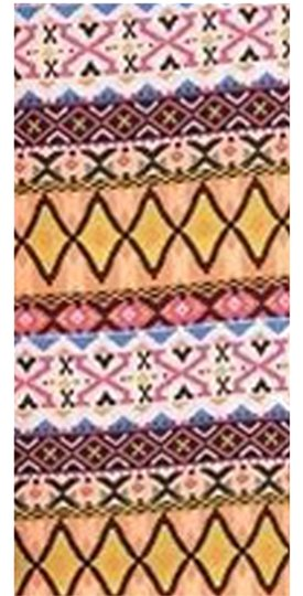 Belle by Sigerson Morrison Private Boutique Women's PINK Silky Fashion Multi-colored Tribal Print Infinity Scarf