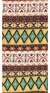 Belle by Sigerson Morrison Private Boutique Women's GREEN Silky Fashion Multi-colored Tribal Print Infinity Scarf