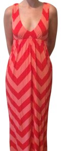 Maxi Dress by J.Crew Maxi Chevron Multicolored Long Floor Length Summer