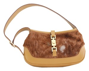 Gucci Pony Hair Calf Jackie Mini Baguette
