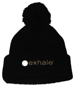 exhale exhale knit hat black NWOT