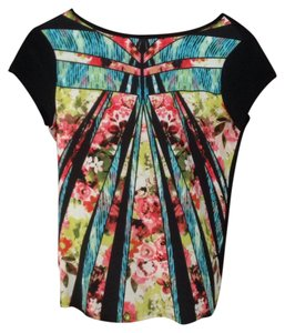 Ivanka Trump Colorful Casual Work Kaleidescope New No Tag Never Worn Lord And Taylor Top Black