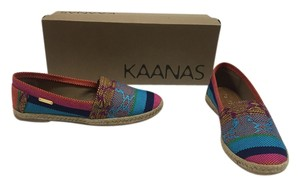 KAANAS Tulum Sunset Ethnic Espadrilles Multicolored Flats