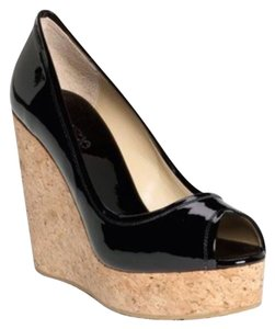 Jimmy Choo Black Patent Wedges