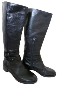 Via Spiga Timeless Tall Biker Style Black Boots