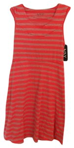Andrew Marc short dress Coral and Grey on Tradesy